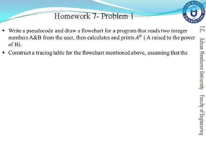 Homework 7 - Problem 1 §
