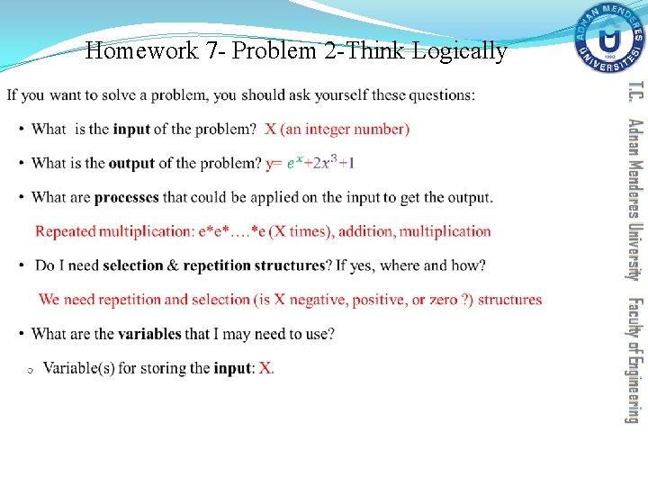 Homework 7 - Problem 2 -Think Logically §