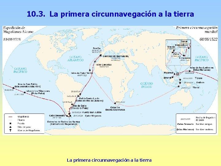 10. 3. La primera circunnavegación a la tierra