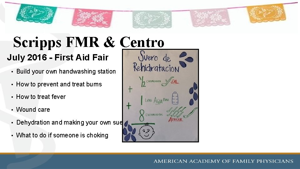Scripps FMR & Centro July 2016 - First Aid Fair ▪ Build your own