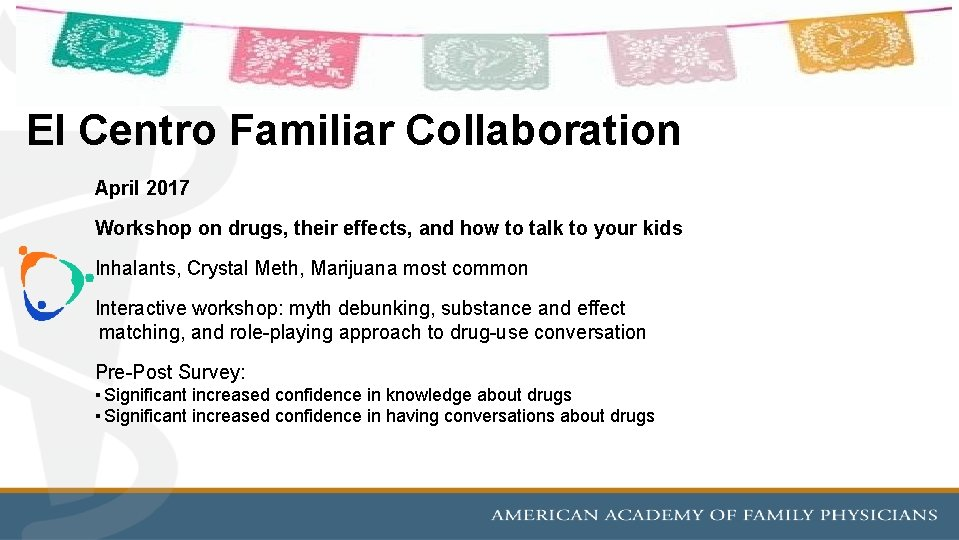 El Centro Familiar Collaboration April 2017 Workshop on drugs, their effects, and how to