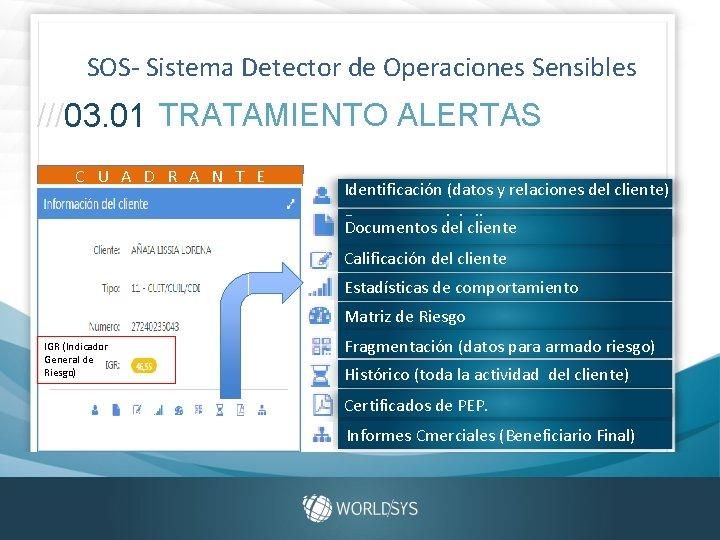 SOS- Sistema Detector de Operaciones Sensibles ///03. 01 TRATAMIENTO ALERTAS C U A D