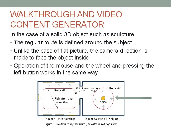 WALKTHROUGH AND VIDEO CONTENT GENERATOR In the case of a solid 3 D object