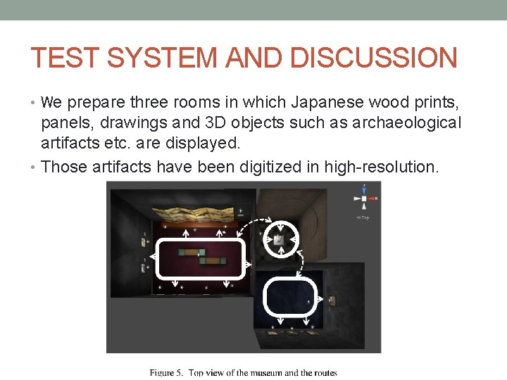 TEST SYSTEM AND DISCUSSION • We prepare three rooms in which Japanese wood prints,