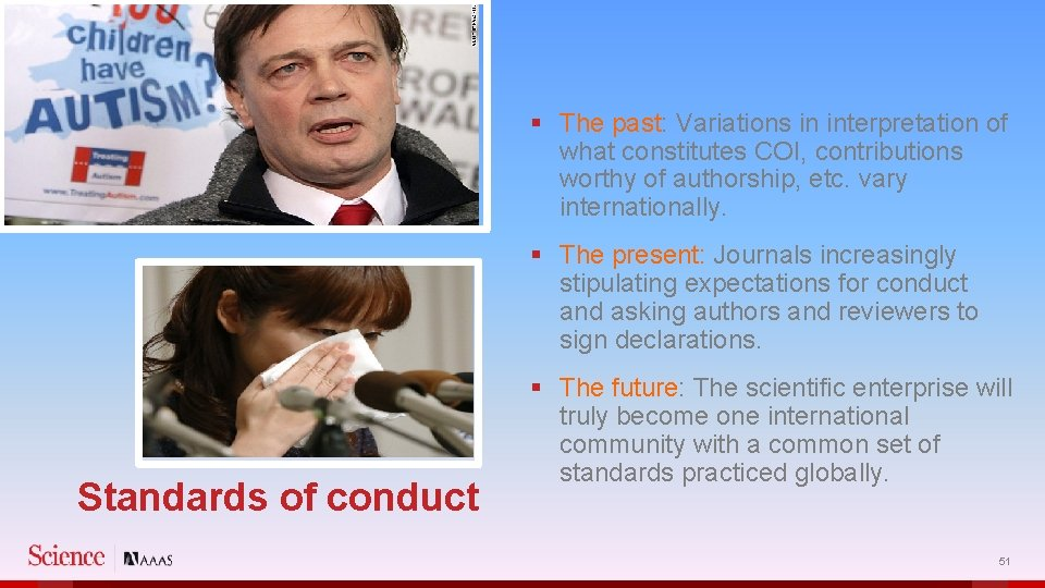 § The past: Variations in interpretation of what constitutes COI, contributions worthy of authorship,