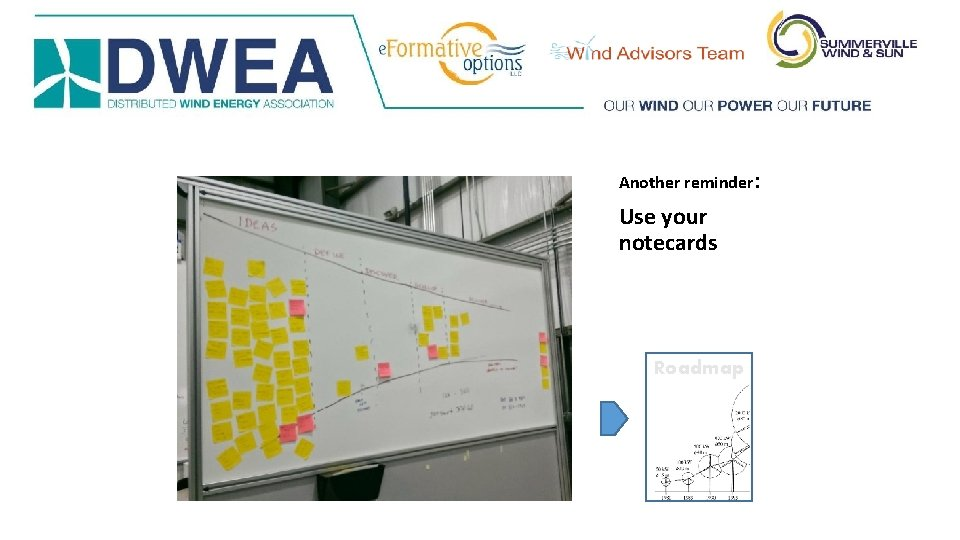Another reminder: Use your notecards Roadmap