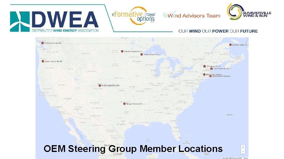 OEM Steering Group Member Locations