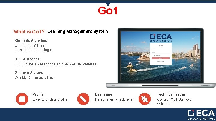 Go 1 What is Go 1? Learning Management System Students Activities Contributes 5 hours