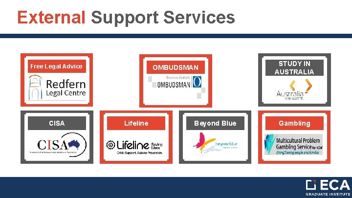 External Support Services Free Legal Advice OMBUDSMAN STUDY IN AUSTRALIA Simple Power. Point CISA