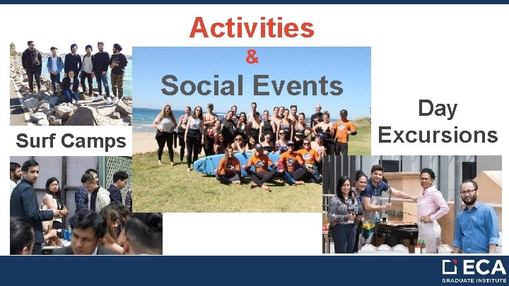Activities & Social Events Surf Camps Day Excursions