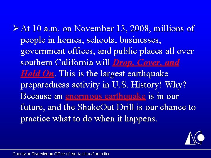 Ø At 10 a. m. on November 13, 2008, millions of people in homes,