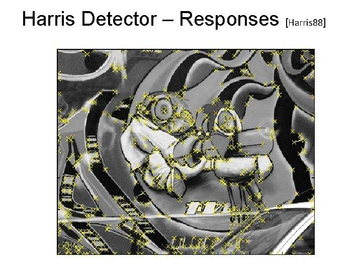 Harris Detector – Responses [Harris 88]