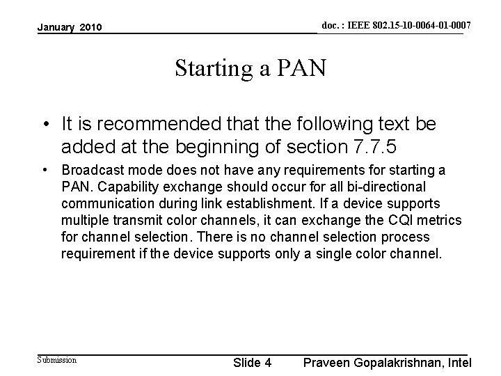 doc. : IEEE 802. 15 -10 -0064 -01 -0007 doc. : IEEE 802. 15