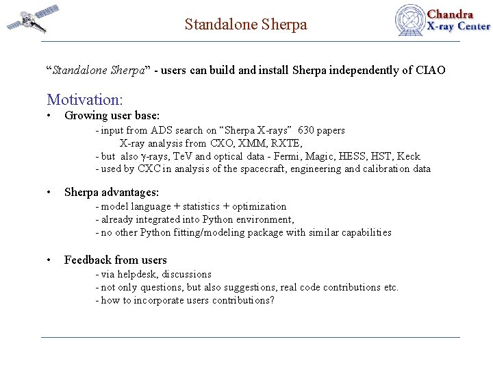 """Standalone Sherpa """"Standalone Sherpa"""" - users can build and install Sherpa independently of CIAO"""