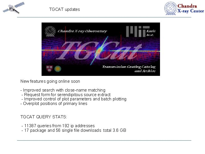 TGCAT updates New features going online soon - Improved search with close-name matching -