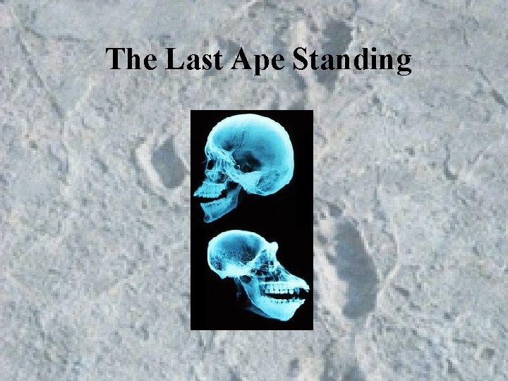 The Last Ape Standing