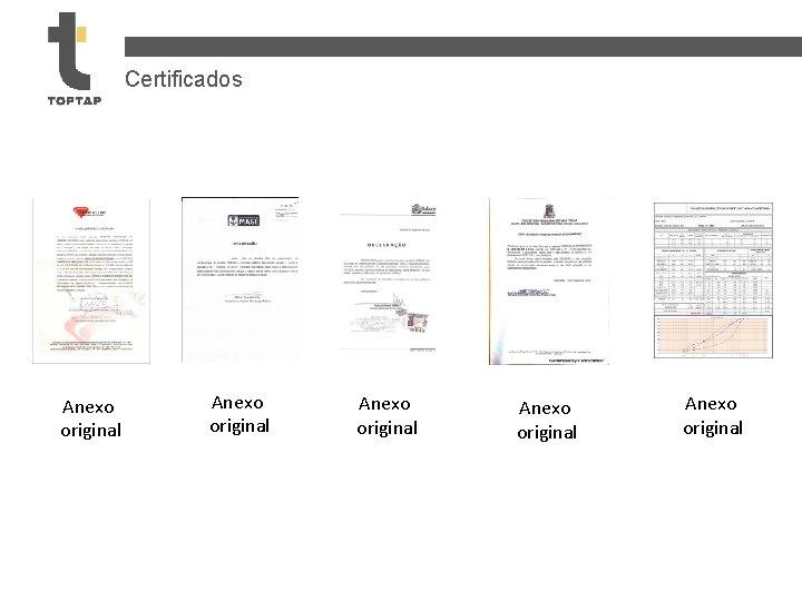 Certificados Anexo original Anexo original