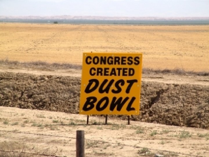 Congress Created Dust Bowl