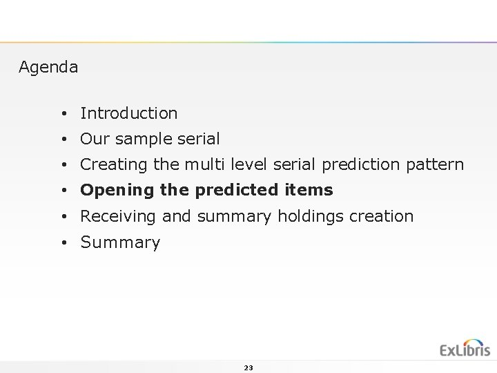 Agenda • Introduction • Our sample serial • Creating the multi level serial prediction