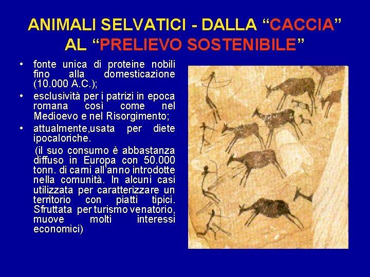 """ANIMALI SELVATICI - DALLA """"CACCIA"""" AL """"PRELIEVO SOSTENIBILE"""" • fonte unica di proteine nobili"""