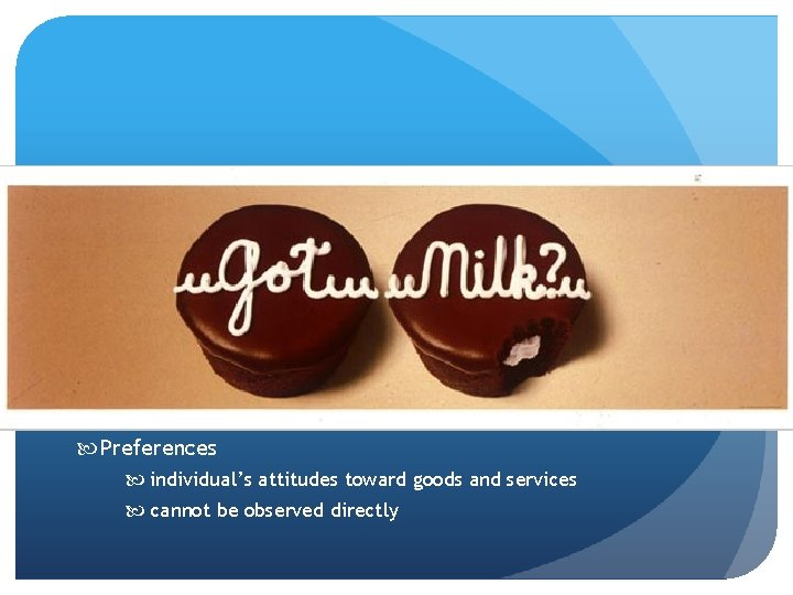 Preferences individual's attitudes toward goods and services cannot be observed directly