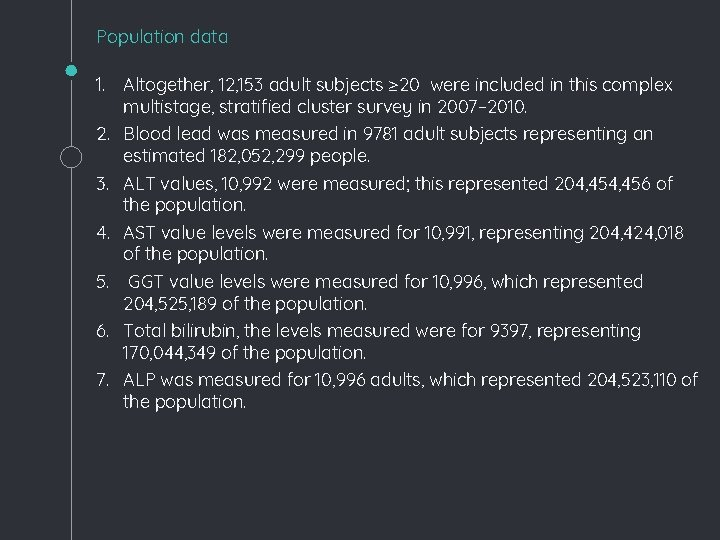 Population data 1. Altogether, 12, 153 adult subjects ≥ 20 were included in this
