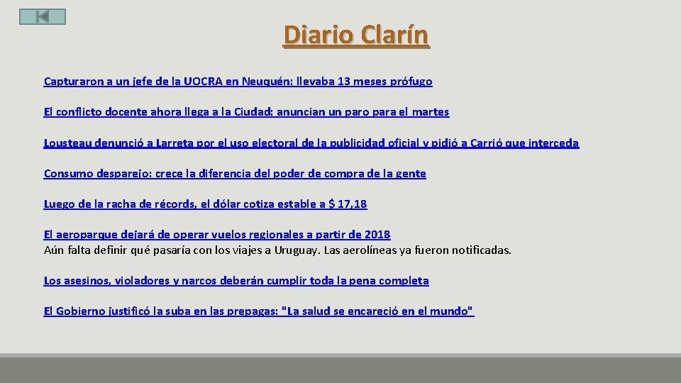 Diario Clarín Capturaron a un jefe de la UOCRA en Neuquén: llevaba 13 meses