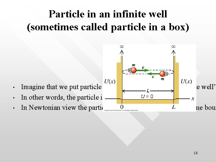 Particle in an infinite well (sometimes called particle in a box) • • •