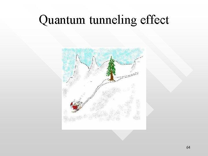 Quantum tunneling effect 64