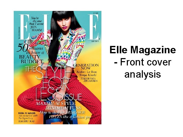 Elle Magazine - Front cover analysis