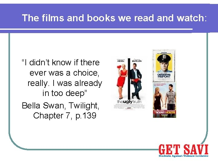 """The films and books we read and watch: """"I didn't know if there ever"""