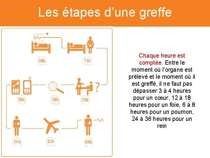 Les étapes d'une greffe L'Etablissement Français du Sang (EFS) Chaque heure est comptée. Entre