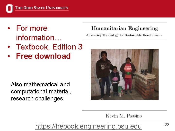 • For more information… • Textbook, Edition 3 • Free download Also mathematical