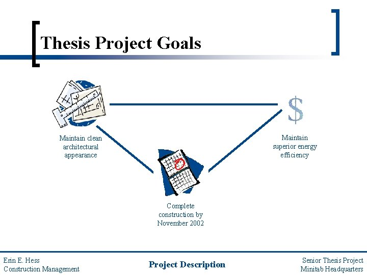 Thesis Project Goals Maintain superior energy efficiency Maintain clean architectural appearance Complete construction by