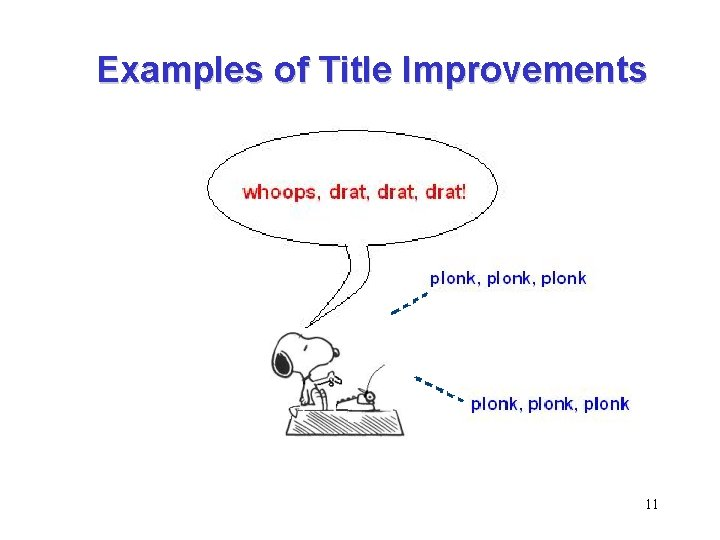 Examples of Title Improvements 11