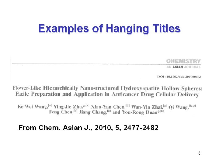 Examples of Hanging Titles 8