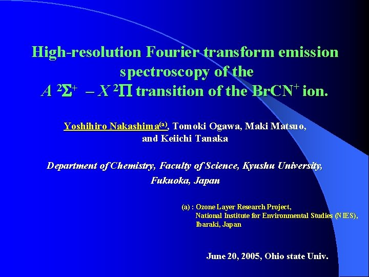 High-resolution Fourier transform emission spectroscopy of the A 2 S+ – X 2 P