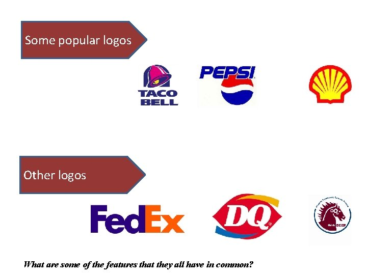 Some popular logos Other logos What are some of the features that they all