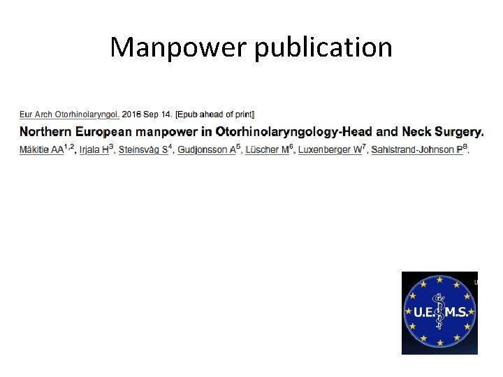 Manpower publication