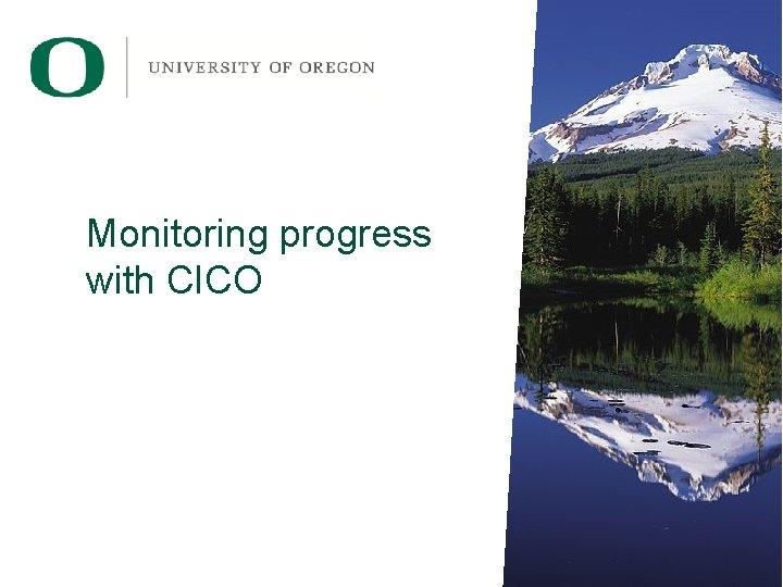 Monitoring progress with CICO