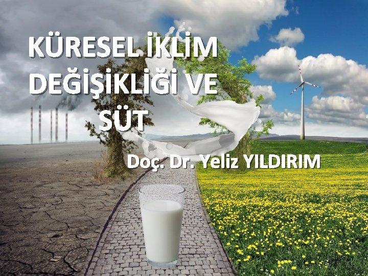 KÜRESEL İKLİM DEĞİŞİKLİĞİ VE SÜT Doç. Dr. Yeliz YILDIRIM