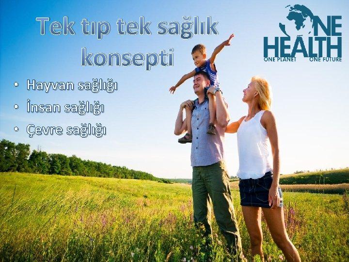 Tek tıp tek sağlık konsepti • Hayvan sağlığı • İnsan sağlığı • Çevre sağlığı