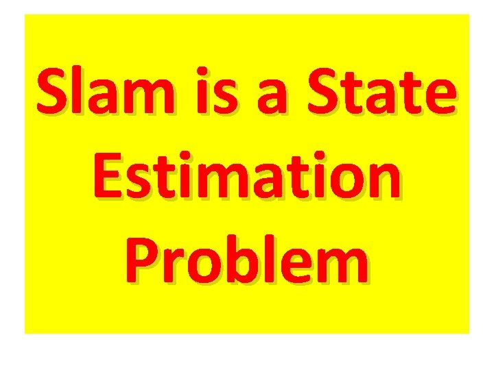 Slam is a State Estimation Problem