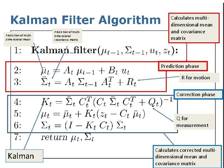Prediction of multidimensional mean Prediction of multidimensional covariance matrix Calculates multidimensional mean and covariance
