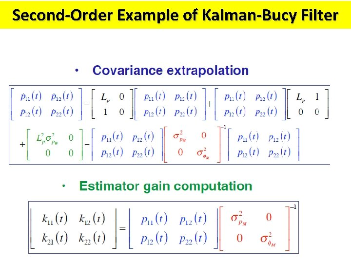 Second-Order Example of Kalman-Bucy Filter