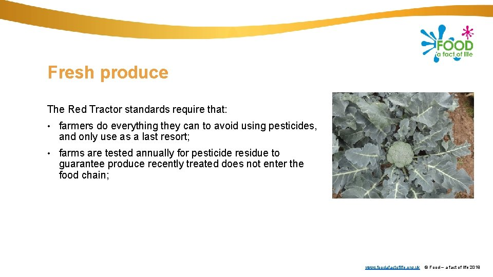 Fresh produce The Red Tractor standards require that: • farmers do everything they can