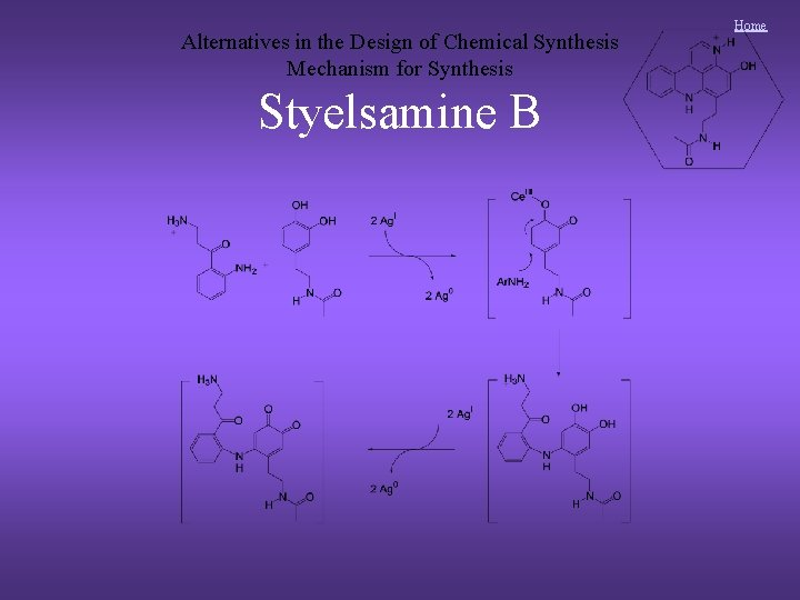 Alternatives in the Design of Chemical Synthesis Mechanism for Synthesis Styelsamine B Home