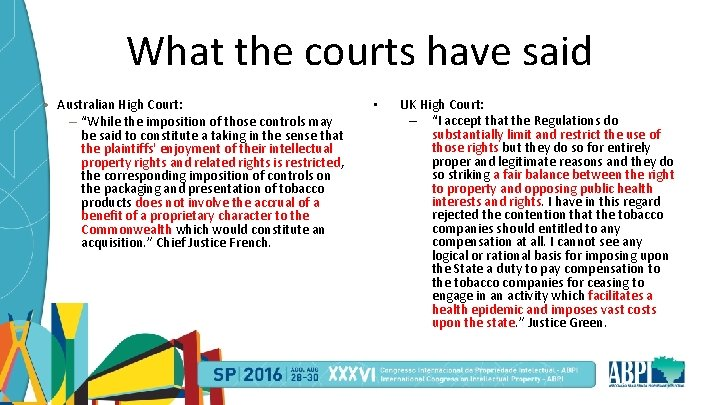 """What the courts have said • Australian High Court: – """"While the imposition of"""