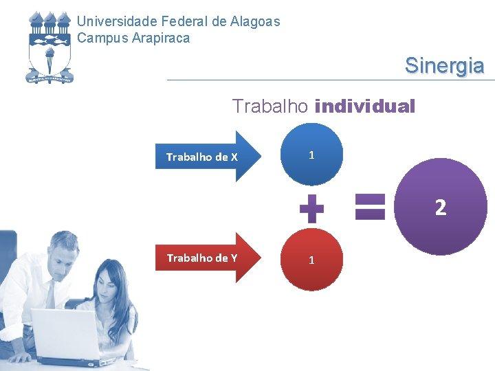 Universidade Federal de Alagoas Campus Arapiraca Sinergia Trabalho individual Trabalho de X 1 2