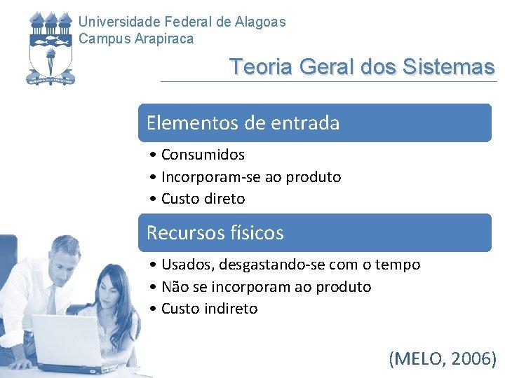 Universidade Federal de Alagoas Campus Arapiraca Teoria Geral dos Sistemas Elementos de entrada •